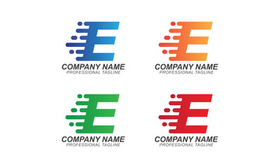 E Fast Font Illustration - Logo Business Concept