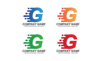 G Fast Font Illustration - Logo Business Concept