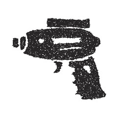 Simple doodle of a space gun