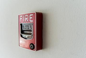 An  Fire Alarm near door fire .