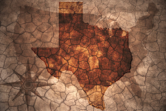 vintage Texas state map