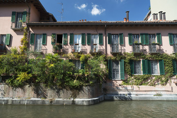 Milan (Italy): canal of Martesana