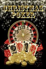 Christmas poker background, 2016 New Year, vector illustration