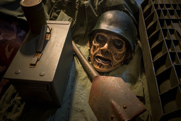 skull and death of the soldier