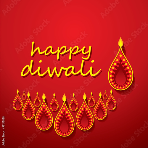 Creative happy diwali greeting design vector stock image and creative happy diwali greeting design vector m4hsunfo