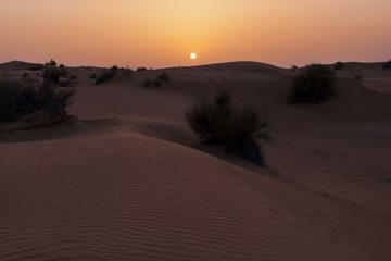 Sunset in the Rub Al Khali Desert near Dubai