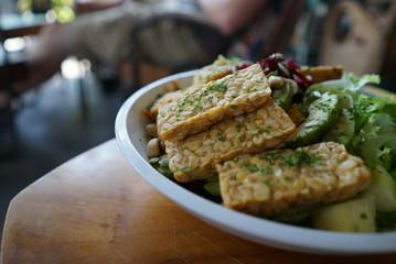 Tempeh vegan food Bali