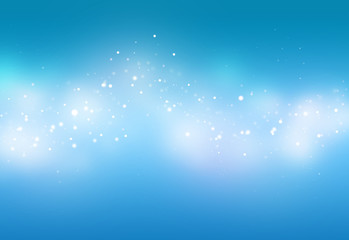 Blue ray  bokeh glitter defocused lights abstract background
