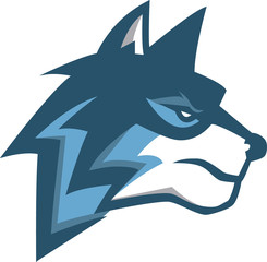 Blue wolf illustration design