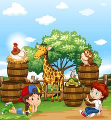 Children and wild animals