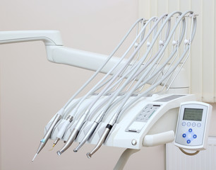 Dental instruments and tools.