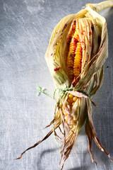 Fresh grilled corn on the cob