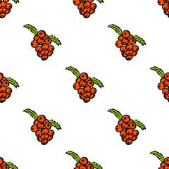 seamless pattern with rowanberry-1