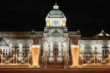 The Ananta Samakhom Throne Hall at night time