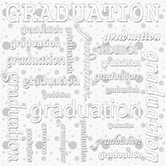 Graduation Design with Gray and White Polka Dot Tile Pattern Rep