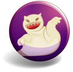Ghost on purple badge