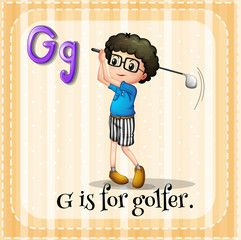 Alphabet G is for golfer