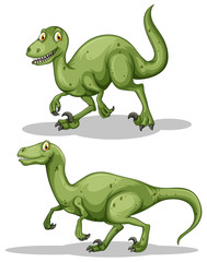 Green dinosaur with sharp teeth