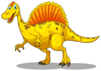 Yellow dinosaur with sharp claws