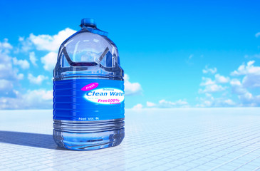 6 liter bottle of water.