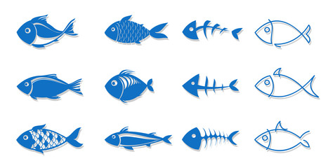set of fish for your design