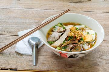 Paste of rice flour,thai food