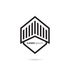 Wall Mural - Abstract vector logo design template.