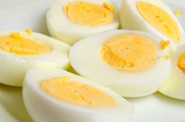 Boiled in the hard-boiled eggs.