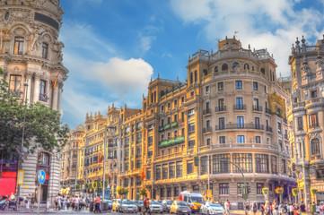 crossroad in Madrid
