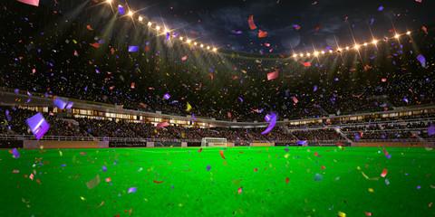 Night stadium arena soccer field championship win