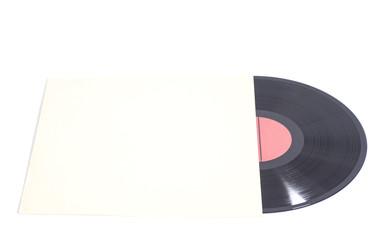 Old vinyl record in paper case