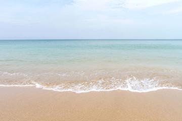 Ocean waves and beach with sand  on Koh Lanta, Krabi,Thailand