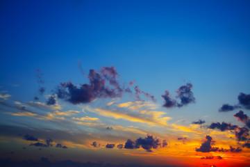 Fotobehang - colorful sky at sunset