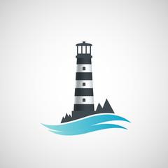 Logo old lighthouse.