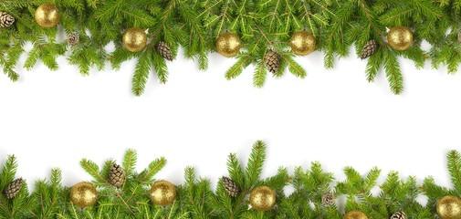 Tannenzweige Weihnachten Banner Kaufen Sie Dieses Foto Und