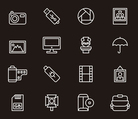 PHOTOGRAPHY outline icons