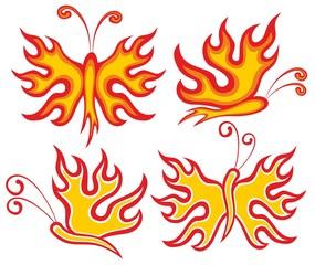 Fiery butterfly.
