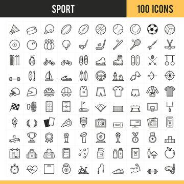 Sport icons. Vector illustration.