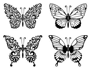 Abstract butterfly set 001