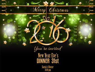 2016 Christmas and Happy New Year Party flyer