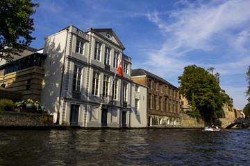 Palazzi sul canale di Bruges, Belgio
