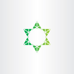 eco green star vector icon sign