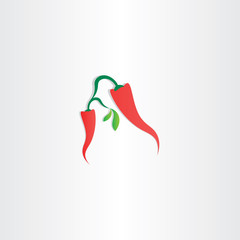 red hot chili pepper vector icon