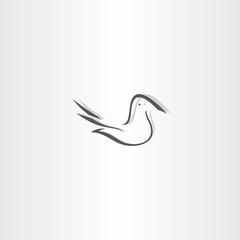 stylized dove vector icon design element