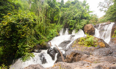 Waterfall in Thailand in tropical forest