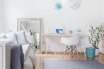 Bright nook with desk