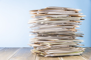 Files. Stack of papers paperwork.