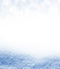 Background of snow. Winter landscape.