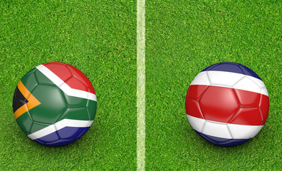 Team balls for South Africa vs Costa Rica soccer tournament match