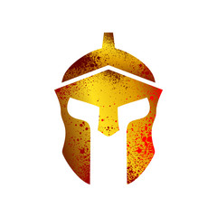 Rusty Gold Blooded Helmet